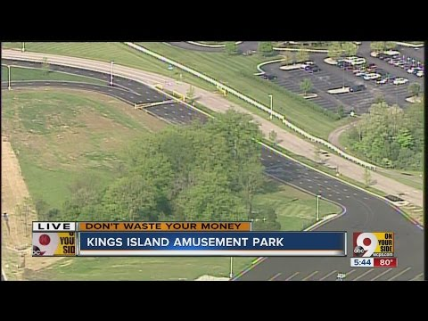 Chopper 9 view of confusing traffic patterns outside Kings Island