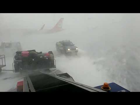 Iceland. Weather compilation: snow rain and wind | KEF airport