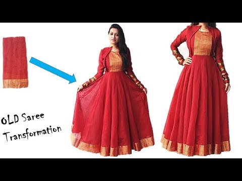 Diwali Special Convert Your Old Saree In To Designer Festive Wear