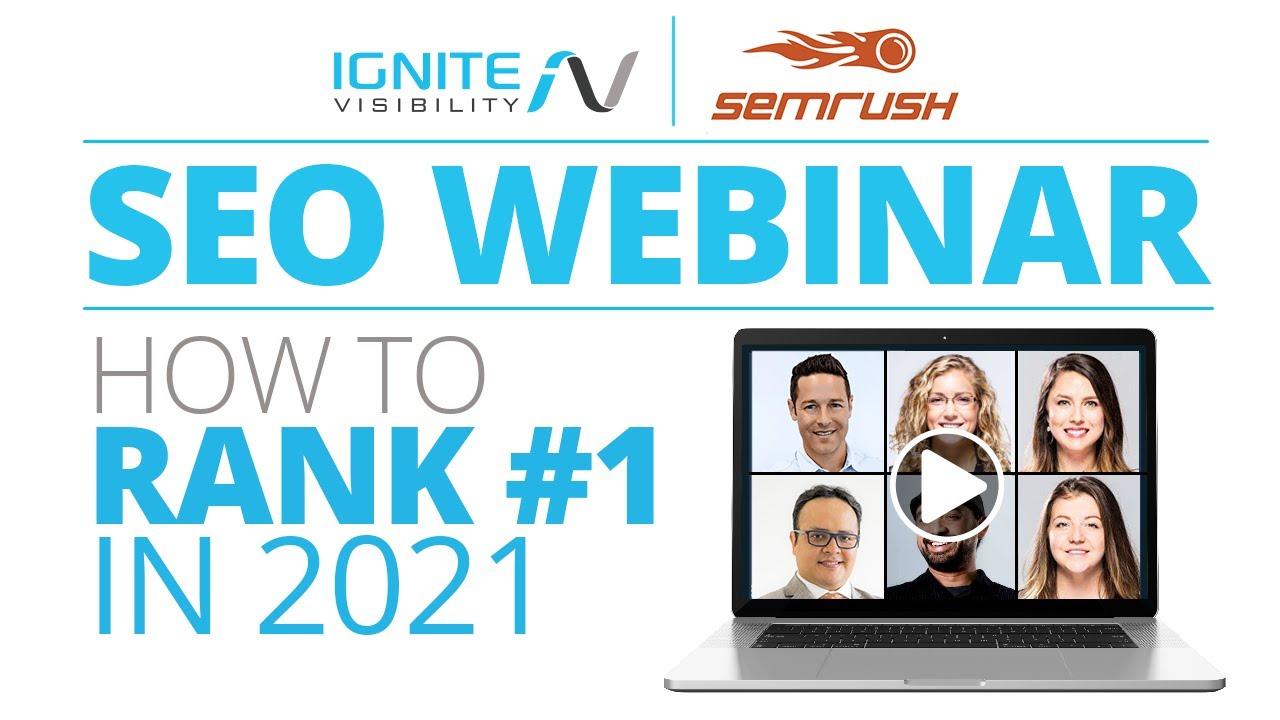 New SEO Webinar | How To Rank #1 In 2021