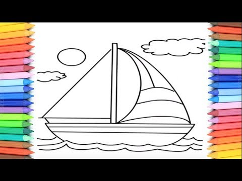 Free Coloring Pages Yacht, Download Free Clip Art, Free Clip Art ... | 360x480