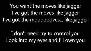 Repeat youtube video Maroon 5 - Moves Like Jagger [Lyrics]