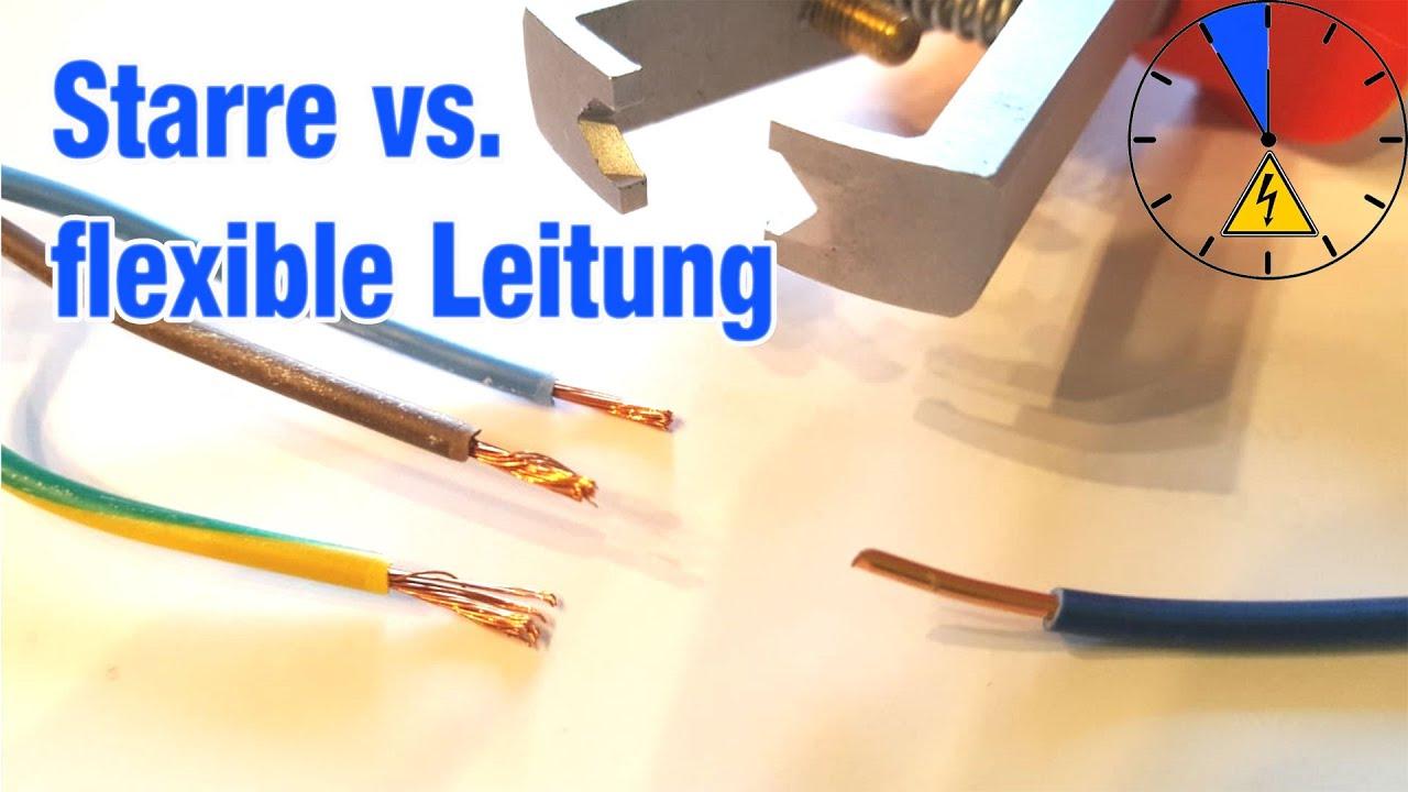 Elektrische Leitungsverlegung Starre und flexible Leitung Verlegung Was ist der Unterschied