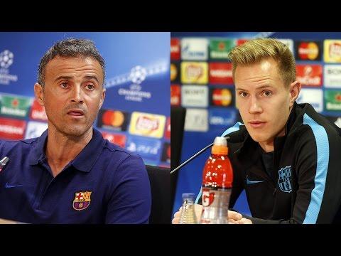 Luis Enrique's and ter Stegen's press conference