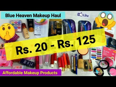 Blue Heaven Makeup Haul    Rs.20 - Rs.125    Very Affordable Beginners Makeup Products   