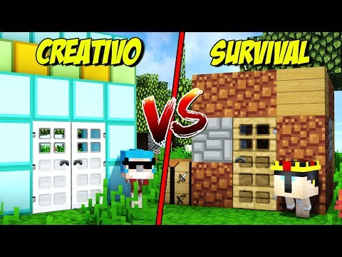 CASA EN SURVIVAL VS CASA EN CREATIVO 🏡 MINECRAFT