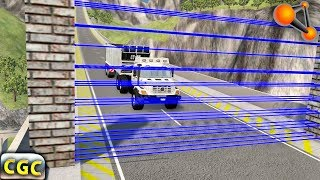 Laser wall divides cars into parts (Fake Laser)BeamNG Drive part 3