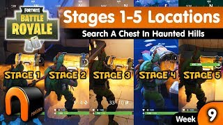 FORTNITE STAGE 1 Search A Chest In Haunted Hills WEEK 9 Challenge