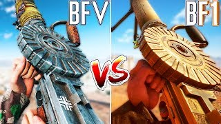 BF5 versus BF1 ALL GUNS COMPARED | Battlefield 5 VS Battlefield 1 (WHO WON?)