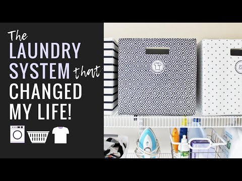 The Laundry System that Changed my Life! (Minimalist Family Life)