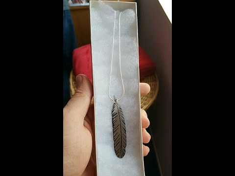 How to make a feather necklace! -metal working (easy)