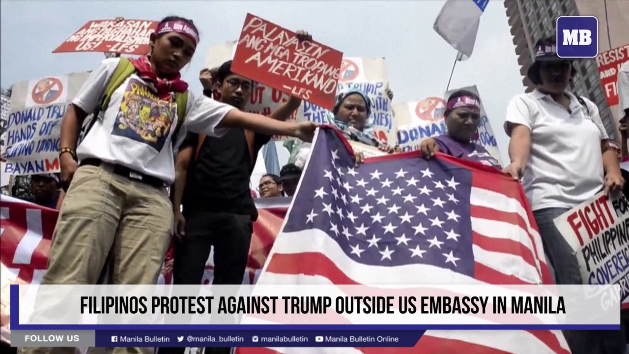Filipinos Protest Against Trump Outside Us Embassy In Manila