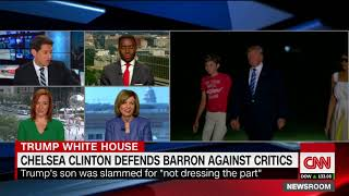 Chelsea Clinton defends Barron Trump