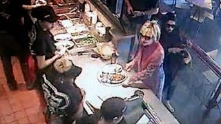Hillary Clinton stops for lunch at Chipotle
