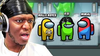 TROLLING KSI with CUSTOM NAMES on AMONG US