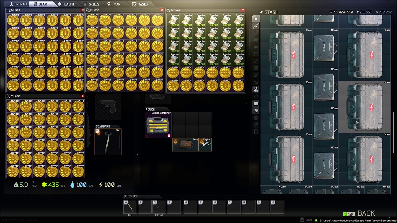 OUTDATED**My Escape from Tarkov stash  5 16 2018 - Video