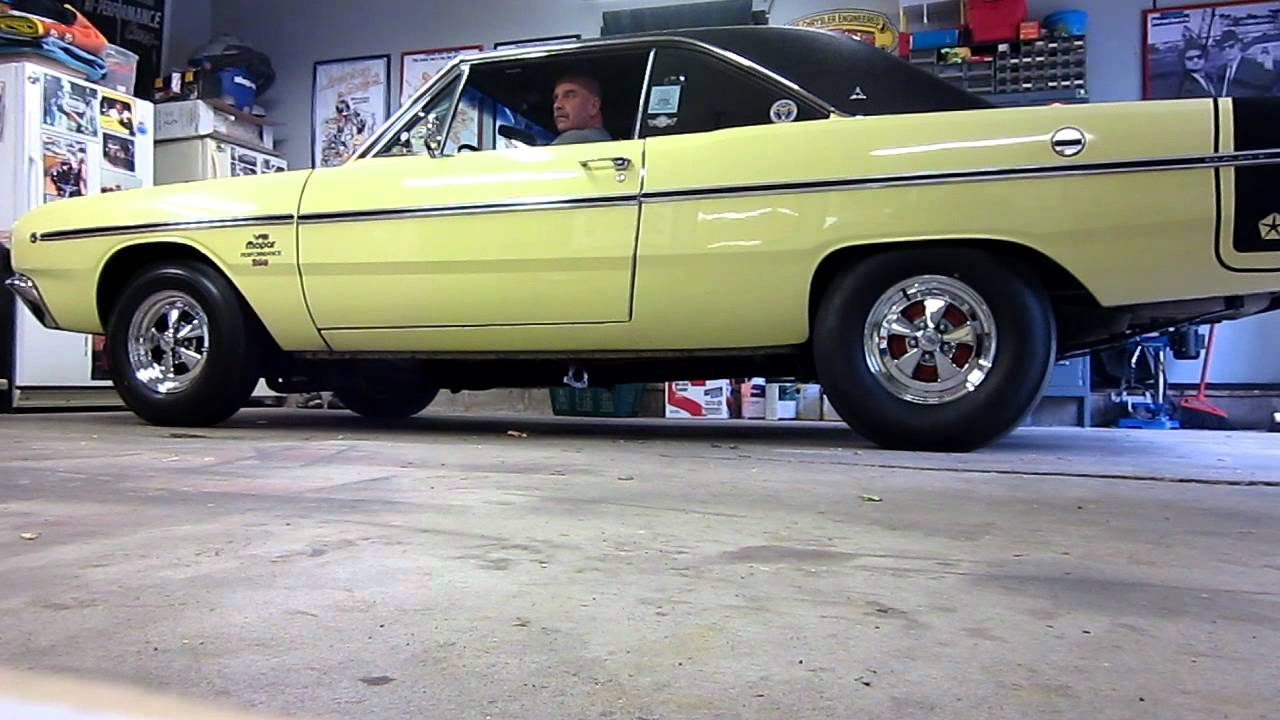 Electric Header Cutouts on 1968 Dodge Dart 340 Six Pack   YouTube