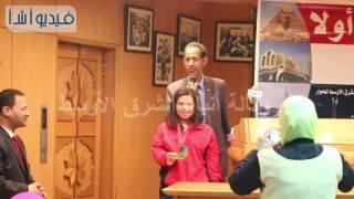 بالفيديو منتدي الشرق الأوسط يكرم احدي بطلات متحدي الإعاقة