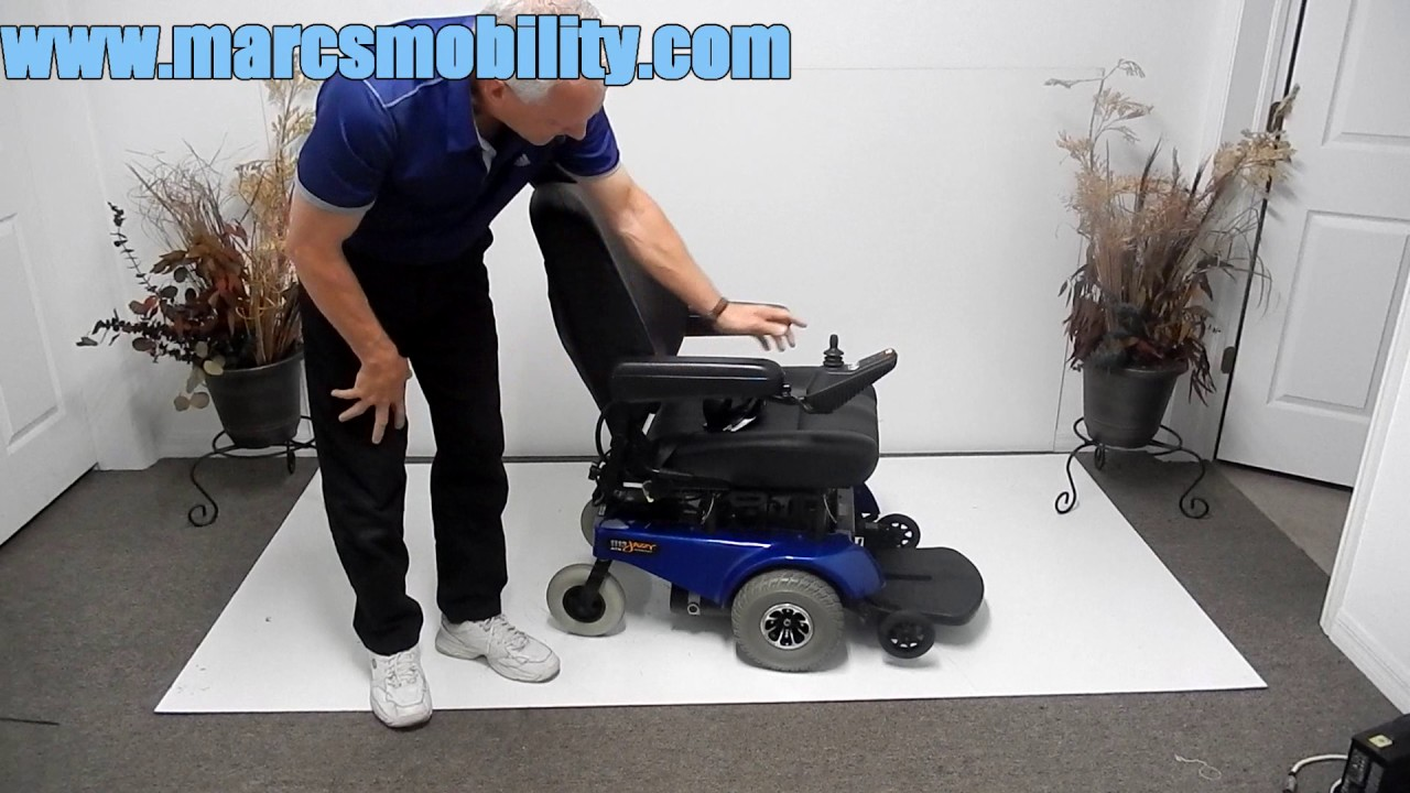 Jazzy Power Chair Used Ergonomic Design Pride Mobility 1113 Ats Youtube