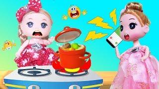 BÚP BÊ BABY TRÔNG CỬA HÀNG GIÚP MẸ Trò Chơi Nấu Ăn Lồng Tiếng Bé Na