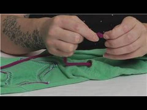 How to Restring a Drawstring : Making Knots When Restringing ...
