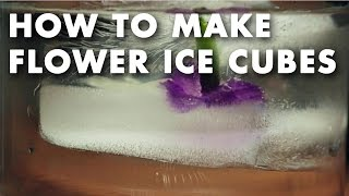 How to Make Flower Ice Cubes - Technique Video