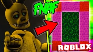 HOW TO MAKE A PORTAL TO THE FNAF RETURN TO THE SCENE DIMENSION - ROBLOX FIVE NIGHTS AT FREDDY'S 2