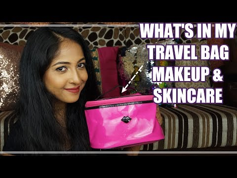 TRAVEL ESSENTIALS: MAKEUP & SKINCARE | What's in my Travel Bag | Stacey Castanha