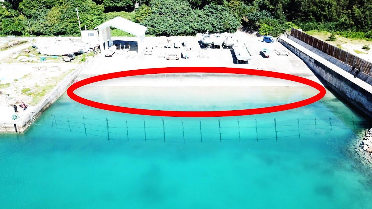 巨大引き網で漁港の魚全部獲る【久高島遠征2021夏 #5】