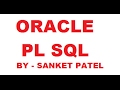 PART-1 (Hello World)  Oracle PL SQL Training - Fast Track Series