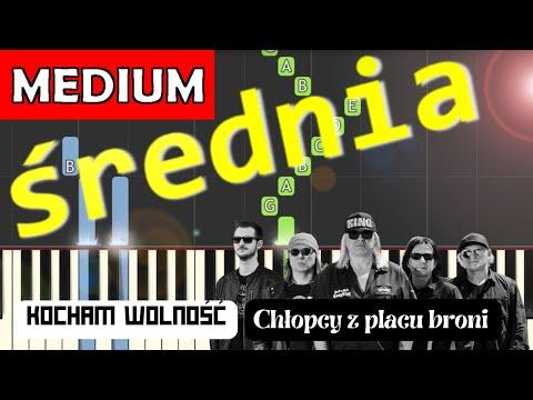 🎹 Kocham wolność (Chłopcy z Placu Broni) - Piano Tutorial (średnia wersja) 🎹