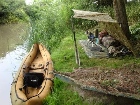 CANOE WITH A WILD CAMP VIEW Stealthy Tarp Set Up 2 Burner