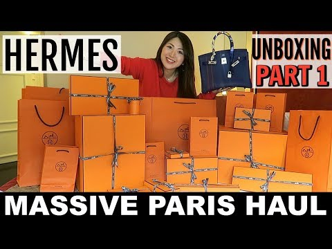 MASSIVE PARIS HAUL | HERMES UNBOXING | PART 1| CHARIS IN PARIS 💕