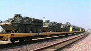 Awsome Meet! Amtrak 505 With The 713 & BNSF 4705 With A Military Train