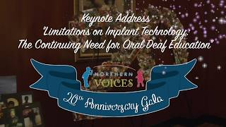 Northern Voices 20th Anniversary Gala Keynote