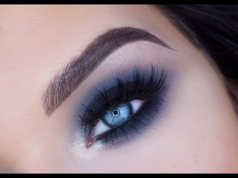 Blue Black Smokey Eye Makeup Tutorial: Makeup Geek Eyeshadows