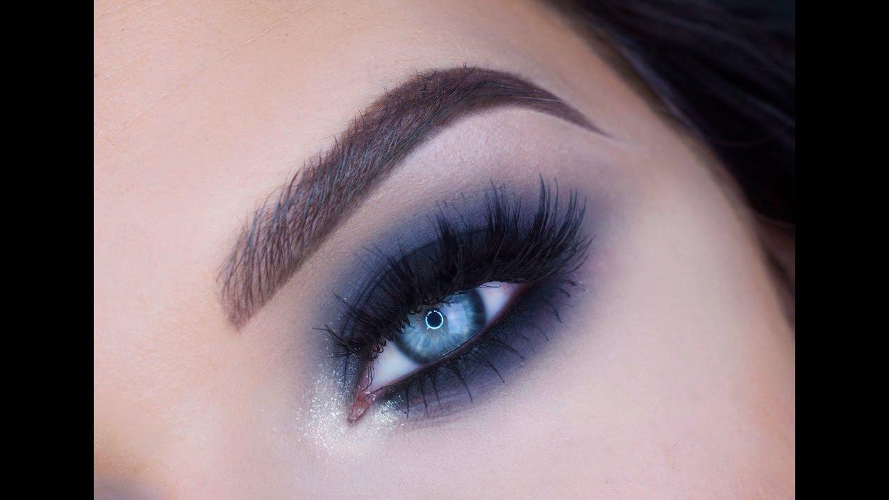 Blue Black Smokey Eye Makeup Tutorial | Makeup Geek ...  Blue Black Smok...