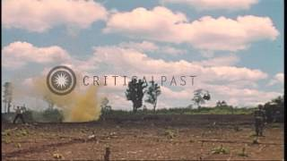 The 9th Infantry Division troops load captured weapons on M113 Armored Personnel ...HD Stock Footage