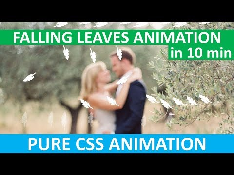 Falling Leaves Animation | Falling Snowflakes Animation | HTML & CSS | Pure CSS | No JavaScript