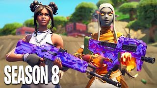 Fortnite SEASON 8! Volcano, Battle Pass, NEW Map & Skins! (Fortnite Gameplay Season 8 LIVE)