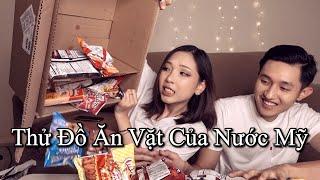 Du Học Sinh Thử Đồ Ăn Vặt Ở Mỹ - American Snack Box Review, Ngon Không? Béo Không?
