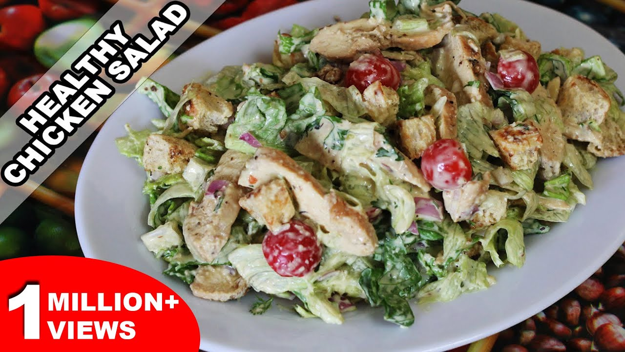 Easy Chicken Salad Recipe Quick And Healthy Home Made Recipe Kanak S Kitchen Hd Youtube
