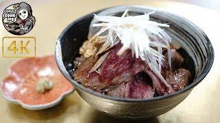 ニンニク醤油ステーキ丼 Garlic sauce Japanese Wagyu steak bowl 【ラファエル Raphael cooking】【4K】