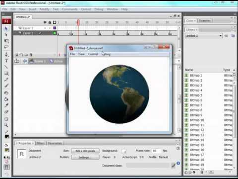 Flash: Basit 3D Program Yardımı Ile Dönen Dünya (Swift 3Dv5 & Flash CS3)