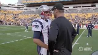 Roethlisberger asks Brady for jersey - YouTube