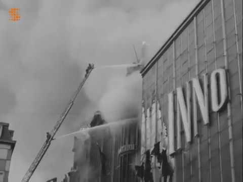 Incendie de l'Innovation Le 22 mai 1967 Rue Neuve à Bruxelles