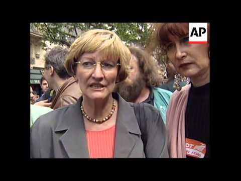 FRANCE: PARIS: WORKERS DEMONSTRATION AGAINST GOVERNMENT POLICY
