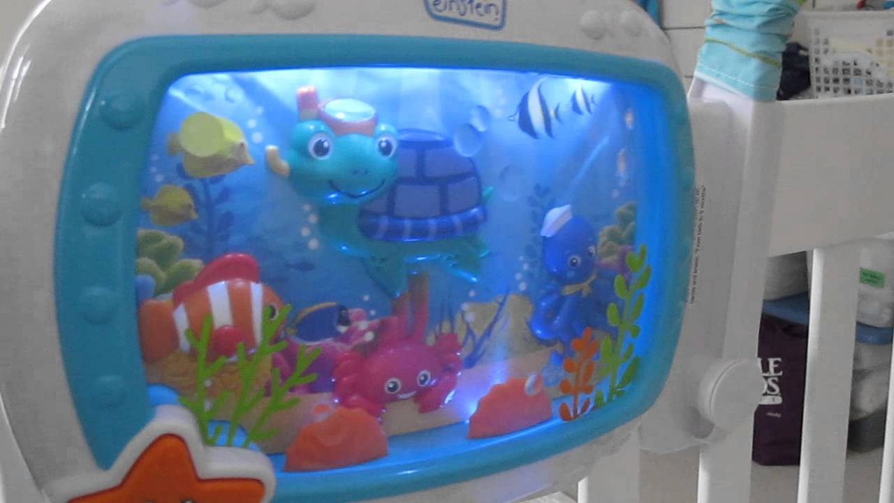 a9c4e4c1fd9 Baby Einstein Sea Dreams Soother (My son's first reaction to it)