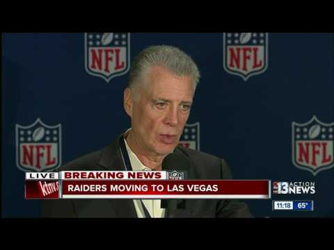 Raiders will relocate to Las Vegas: NFL press conference