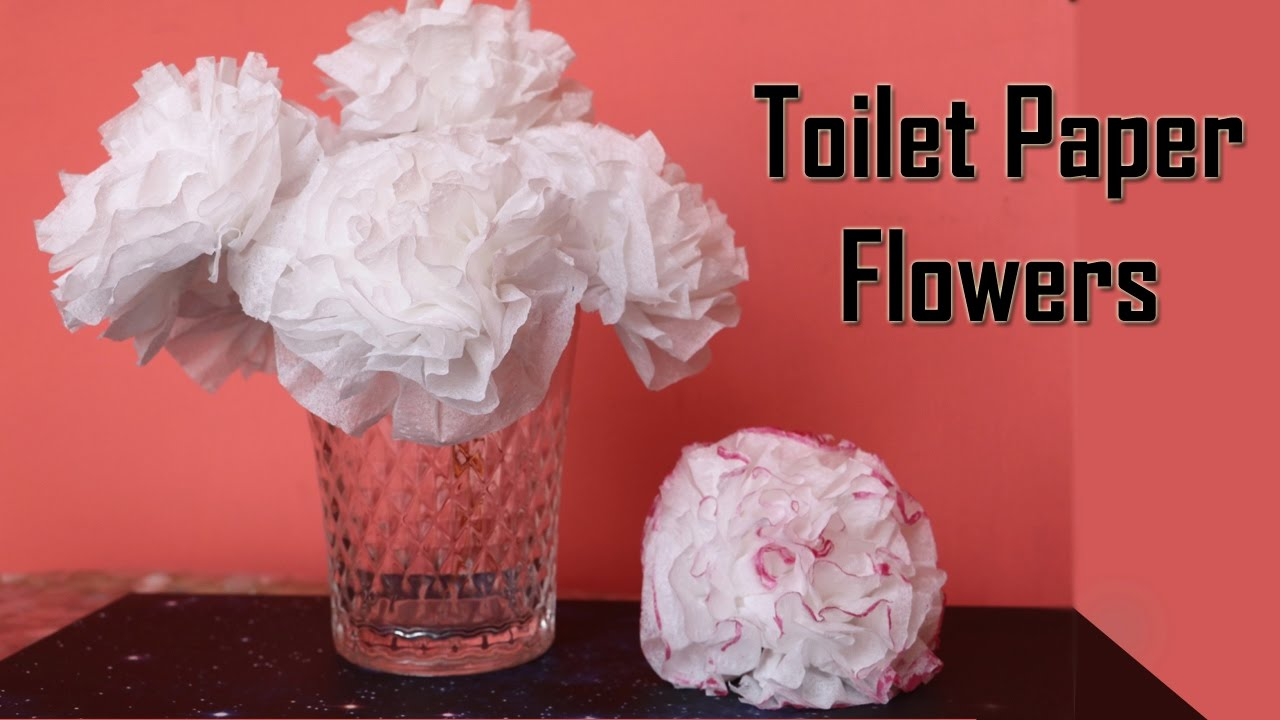 DIY Toilet Paper Flower | Centerpiece Ideas | Wedding Decoration ...